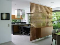 wohnen Ideen aus Holz design raumteiler