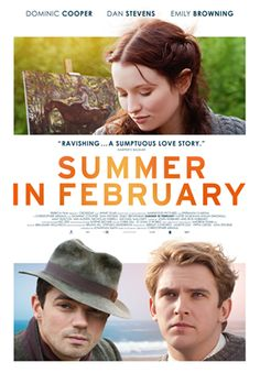 'SUMMER IN FEBRUARY' (2013) | Cornwall: 'Dominic Cooper stars as A.J. (later Sir Alfred) Munnings, with Emily Browning as Florence Carter-Wood and Dan Stevens as Gilbert Evans, based on Jonathan Smith's novel about love and loss among a bohemian colony of artists which flourished in the wild coastal region of Cornwall before the First World War.'     ✫ღ⊰n