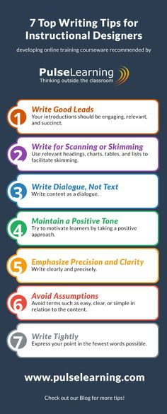 Top Writing Tips for Instructional Designers Infographic - http://elearninginfographics.com/top-writing-tips-instructional-designers-infographic/