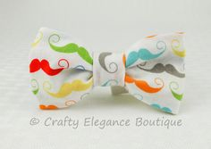 Classy Bow Tie 'White Mustache'  Little Boy Bow by craftyelegence, $9.00