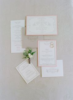#stationery Photography by elizabethmessina.com  Read more - http://www.stylemepretty.com/2013/08/15/ojai-valley-inn-spa-wedding-from-elizabeth-messina-photography/