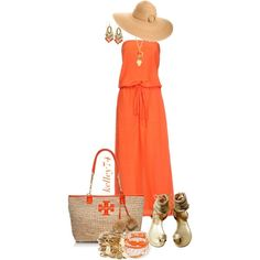 Orange You Glad It's Almost Summer :-), created by kelley74 on Polyvore