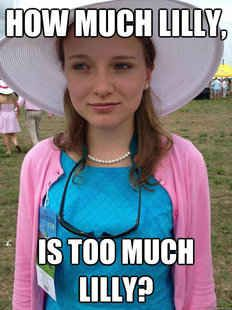 14. You love the Lilly and Vineyard Vines sorority gear.