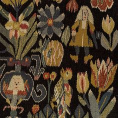Textiles, Tapestry Weaving, Tapestries, Folklore, Textile Design, Art Inspo, Fiber Art, Needlepoint, Scandinavian