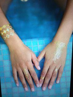 Jewel Tattoo, Flash Tattoos, Temporary Tattoos, Tatting, Metallic, Jewels, Pretty, Tattoo Flash, Jewelery