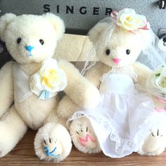 I created the wedding bears☆