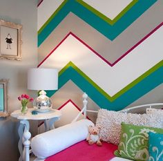 21 creative accent wall ideas for trendy kids bedrooms - Wall Designs For Girls Room