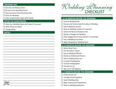 wedding planning checklists on Wedding Plans Wedding Plan ...
