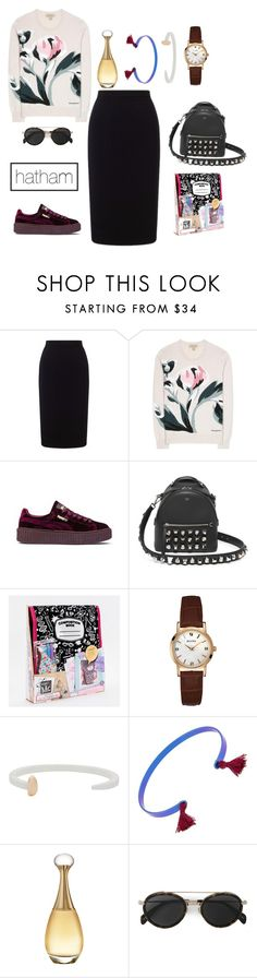 """43"" by itshatham on Polyvore featuring Roland Mouret, Burberry, Puma, Fendi, MC2, Bulova, Giles & Brother, IaM by Ileana Makri, Christian Dior and CÉLINE"