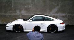 Another future car. Black on white looks amazing. #Porsche