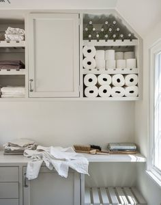 the prettiest laundry room.
