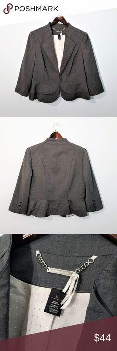 d183b68d153c5 White House Black Market Gray Wool Blend Blazer 14 Excellent condition  White House Black Market (