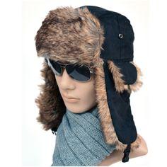 De alta Calidad de invierno bombardero sombreros hombres faux dull estero  polaco Ruso gorro de piel 9d8d63621ce