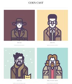 Started Coen Cast to collect all my Coen brotherscharacter illustrations.