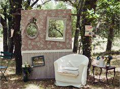 Photo booth retro mariage