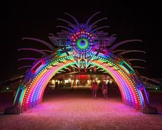Burning Man entrance... I would barely make it in because it is so mesmerizing!