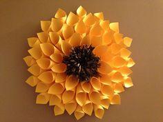 Yellow Paper Sunflower Dahlia