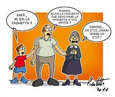 """La """"paghetta"""" della nonna... #IoSeguoItalianComics #Satira #Politica"""