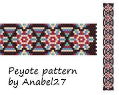 Peyote pattern  beadwork  peyote bracelet pattern  by Anabel27shop,
