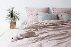 Dusty Pink Bedding by HOP DESIGN. Pure Cotton Bedding Collection.   #dustypink #palepink #millenialpink #powderpink #bedwear