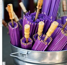 I used these purple parasol, for decoration, at my wedding.