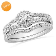 I've tagged a product on Zales: 1/2 CT. T.W. Diamond Frame Bridal Set in 14K White Gold $800
