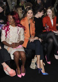 Olivia Palermo Photo - Mulberry: Front Row - LFW Autumn/Winter 2012
