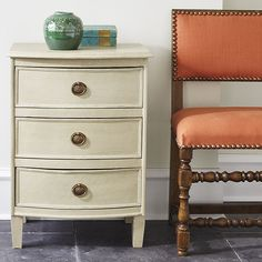 Three Drawer Petite Chest - Compact Small Chest of Drawers Three Drawer Dresser, Dresser As Nightstand, Dresser Drawers, Nightstands, Nightstand Ideas, Bedside Chest, Bedside Tables, Guest Bedrooms, Master Bedroom