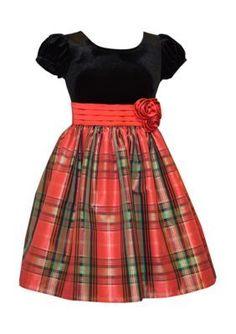 Bonnie Jean  Plaid Dress Girls 4-6x