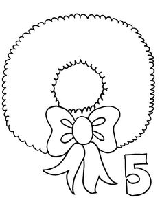Drawing Christmas Wreaths Coloring Pages