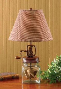 Antique-Butter Churn Lamp