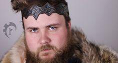 Celtic leather crown,larp,fantasy,armor,headband,headpiece,circlet,cuir,armure,couronne