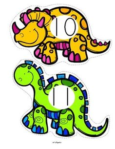 Dinosaurs Numbers 0-20 Counting for Preschool and Pre-K