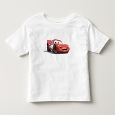 Cars Lightning McQueen Disney Toddler T-shirt - click/tap to personalize and buy