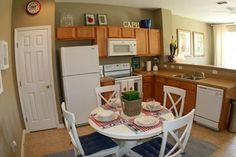 Kitchen integrated with living room.