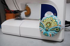 How to make a cute pin cushion to attach to your sewing machine