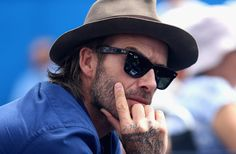 David Beckham Photos - David Beckham watches on during the mens singles second round match between Jordan Thompson of Australia and Sam Querry of The United States on day four of the 2017 Aegon Championships at Queens Club on June 22, 2017 in London, England. - Aegon Championships - Day Four