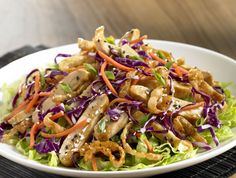 Asian Chicken Salad - Kroger sells a delicious ginger or ginger mango organic salad dressing that would pair well with this as well.