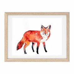 FOX Original watercolour painting by Mydrops on Etsy
