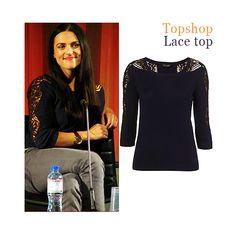 Katie McGrath - Topshop lace top