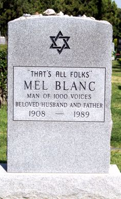 """That's All Folks""  Mel Blanc  1908 - 1989    Hollywood Forever Cemetery"