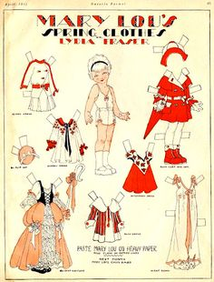 MARY LOU'S SPRING CLOTHES - (1 of 1) - Lydia Fraser, Canadian Home Journal - April 1932