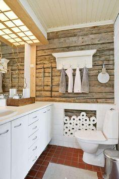 Home Interior Lighting Home Interior, Bathroom Interior, Living Room Decor Eclectic, Bedroom Decor, Sauna Design, Diy Bathroom Remodel, Laundry In Bathroom, Living Room Remodel, Retro Home