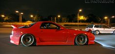 Lowered Mazda RX-7 FC