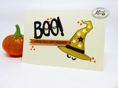 Stampin Utopia Bestel Stampin' Up! Hier. halloween card, bo to you, howl-o-ween treat