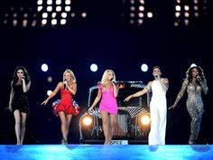 The London Olympics 2012 Closing Ceremony: The Spice Girls reunited to perform.