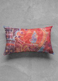 Accent Pillow - Matte Oblong - India by VIDA Original Artist Tree Map, India Design, Summer Waves, Flower Mandala, Mosaic Art, Art Studios, Pattern Art, Organic Cotton, Art Deco