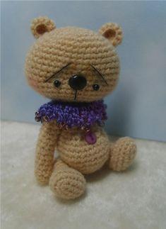 Miniature Crochet THREAD ARTist Japanese Style Anime Bear by Stefanie Devlin