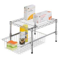 Steel Organizer Shelf ...make under the sink storage more efficient