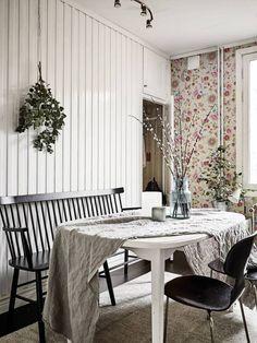 Ideas and inspiration Dining Bench, Dining Rooms, Mid-century Modern, Minimalism, Rustic, Interior Design, House, Furniture, Scandinavian Interiors